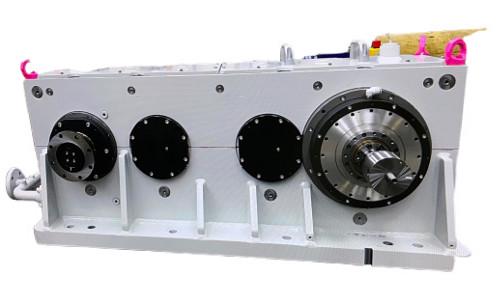 Eine Aufnahme eines High Speed Getriebes von vorne.